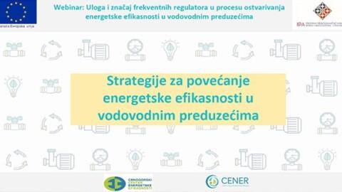 Održan prvi webinar projekta: Frekventni regulatori u službi energetske efikasnosti